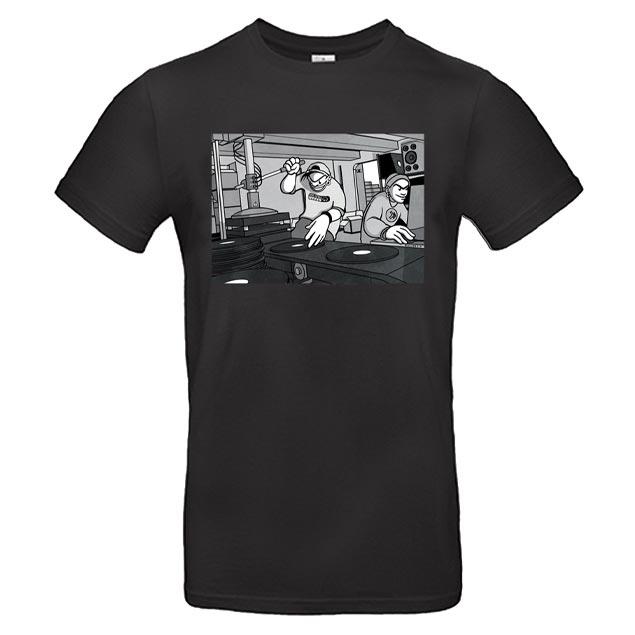T-shirt Noir Vinyl Press